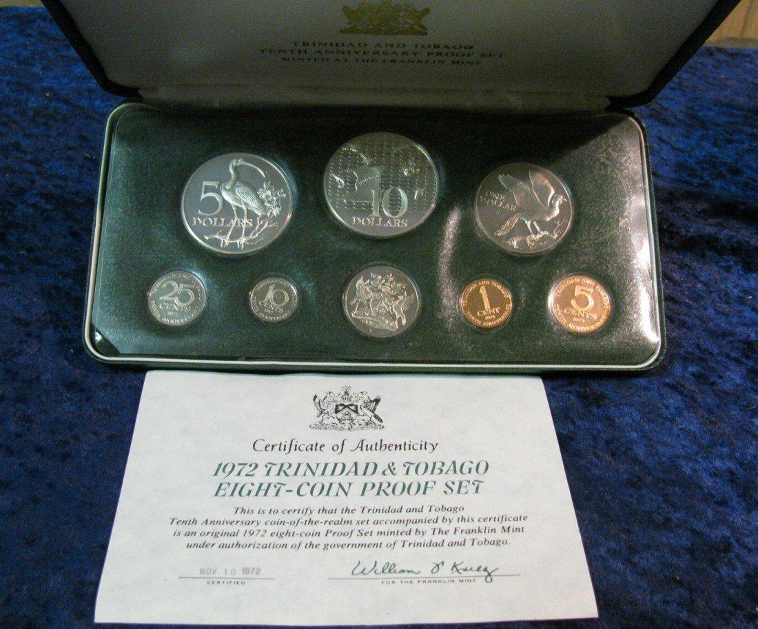 489. 1972 Trinidad & Tobago Sterling Silver Proof Set.