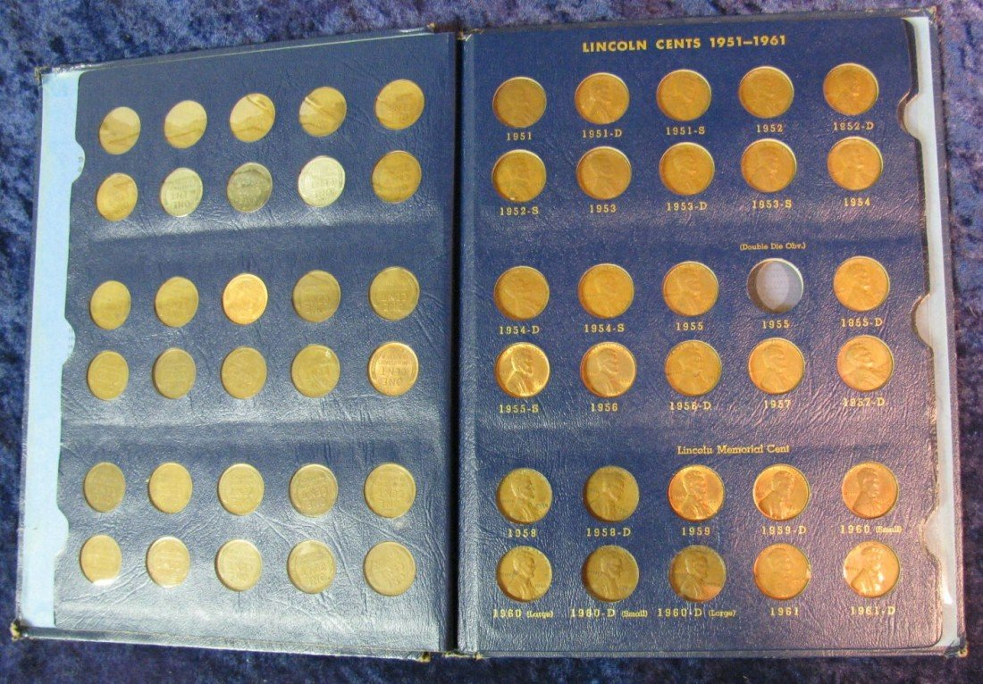 809. Set of (69) 1941-58 Lincoln Cents in Whitman Folde