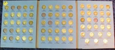 1621. 1916-45 Nearly complete set of Mercury Dimes grad