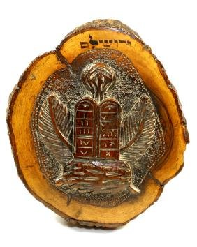 A LARGE OLIVEWOOD PAPERWEIGHT. Jerusalem, c.1880.