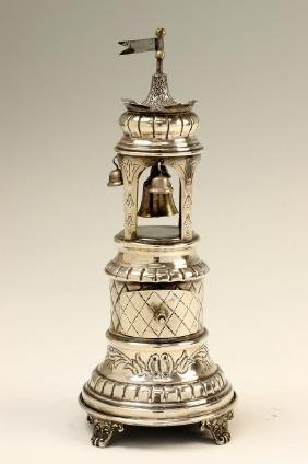 A SILVER SPICE TOWER. Probably Israel, 20th century. In
