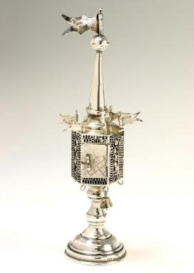 A SILVER SPICE CONTAINER. American, early 20th century.