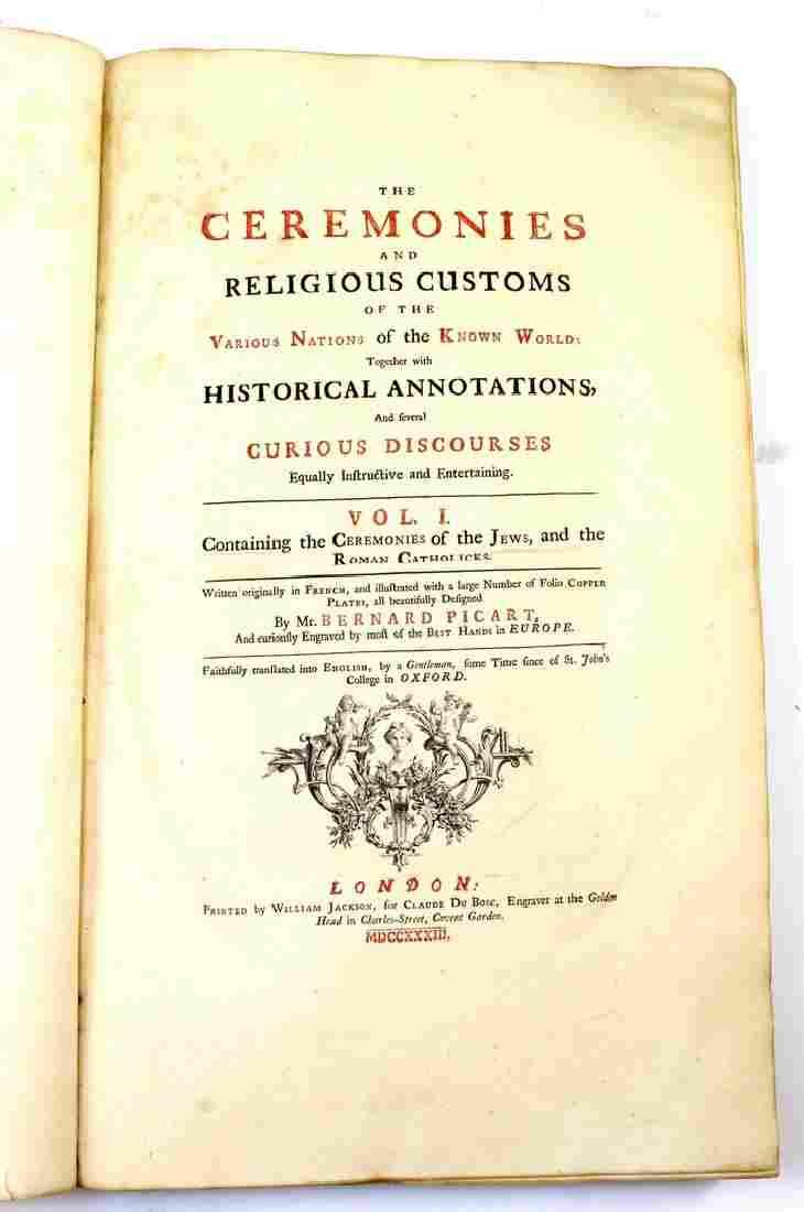 ANTIQUE BOOK: RELIGIOUS CEREMONIES AND RELIGIOUS