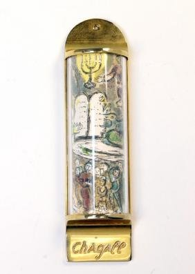 A CHAGALL MEZUZAH BY BERMAN. Israel, c. 1980. The front