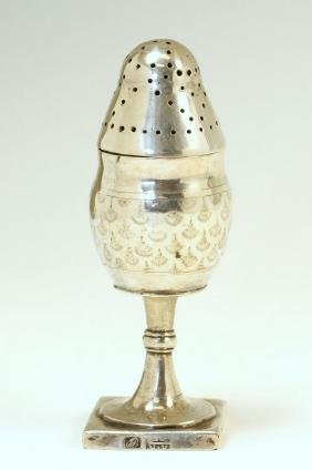 A SILVER SPICE CONTAINER. Vilna, c. 1820. On square