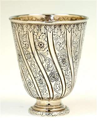 A LARGE SILVER KIDDUSH CUP BY WOLF HECKER Portugal c