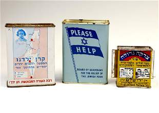 A GROUP OF THREE CHARITY CONTAINERS 20th century