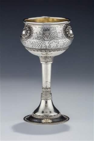 A STERLING SILVER KIDDUSH CUP BY BEZALEL Jerusalem