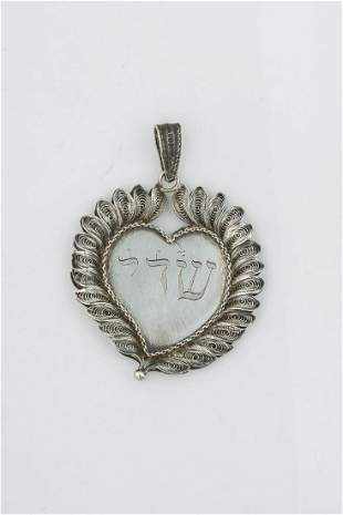 A SILVER AMULET Italy early 19th century Heart