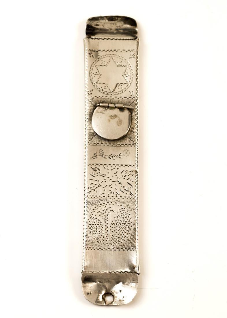 79. A SILVER MEZUZAH CASE. American, c.1920's. Hand