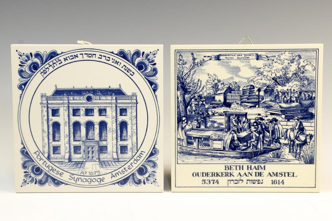 99. TWO DELFT TILES. Holland, 20th century. The first