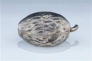 AN EARLY SILVER ETROG CONTAINER Germany c