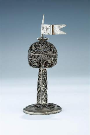 A SILVER SPICE CONTAINER Probably Ukraine 1880