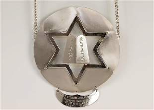 A TORAH SHIELD Probably American c 1960 Round with