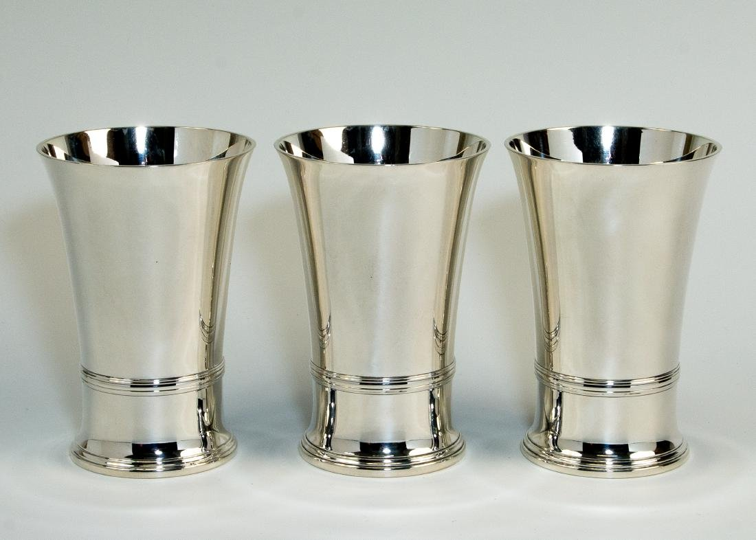 THREE LARGE STERLING SILVER CUPS BY TIFFANY AND