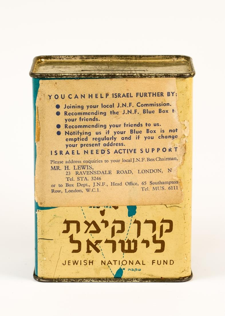 A JNF CHARITY CONTAINER. London, c. 1930. With the
