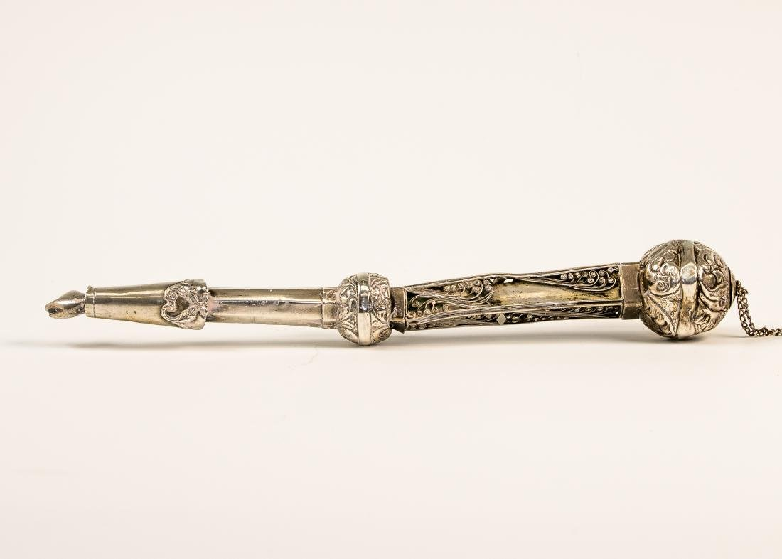 AN EARLY SILVER TORAH POINTER. Probably American, c.