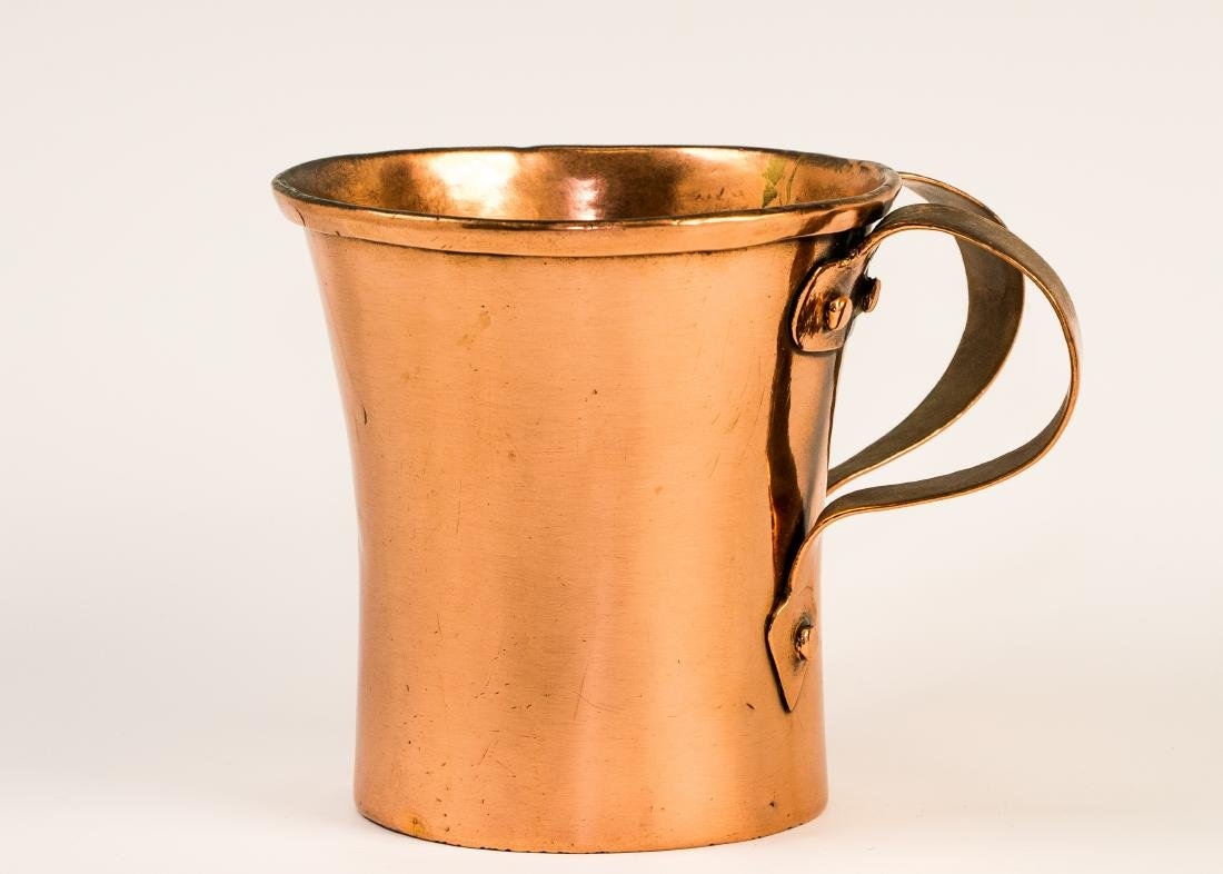 A COPPER WASHING VESSEL. Poland, c.1800. With two
