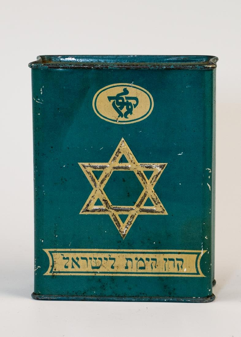 AN EARLY JNF COLLECTION BOX. Palestine, c. 1915. With