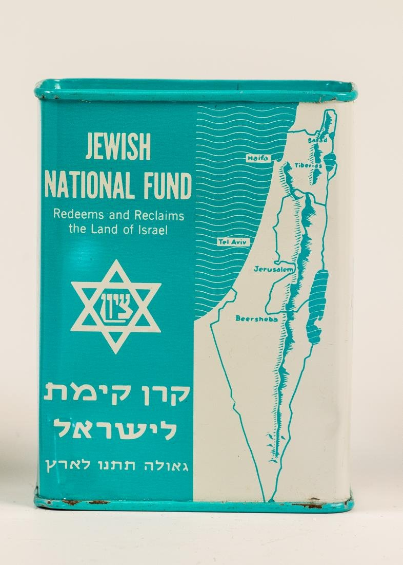 A TIN JNF CHARITY BOX. United States, c. 1970. With the