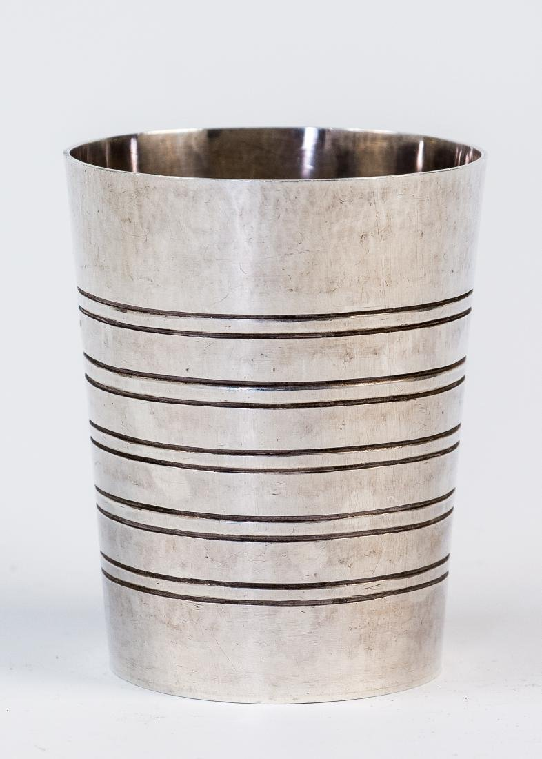 A LARGE STERLING SILVER KIDDUSH CUP MADE BY DAVID