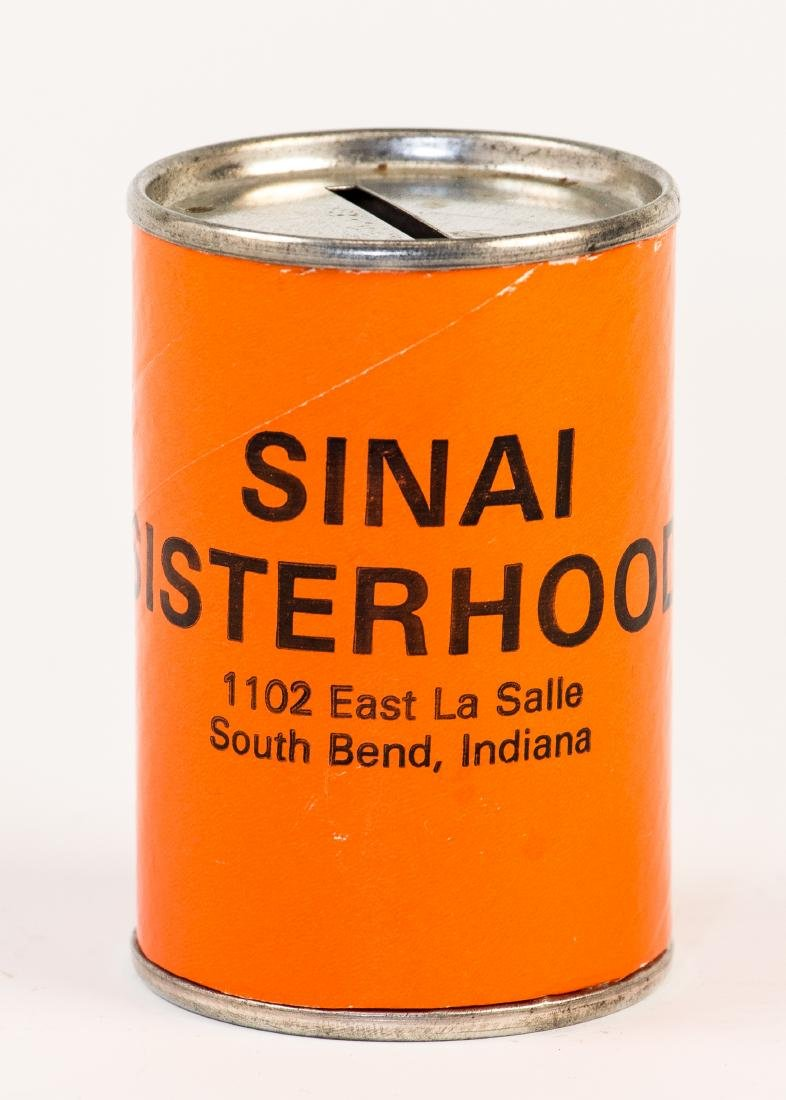 A CHARITY CONTAINER. Indiana, c. 1980. Collecting funds