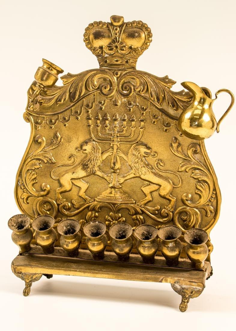 A BRASS HANUKKAH LAMP. Probably Vienna, c. 1900. On