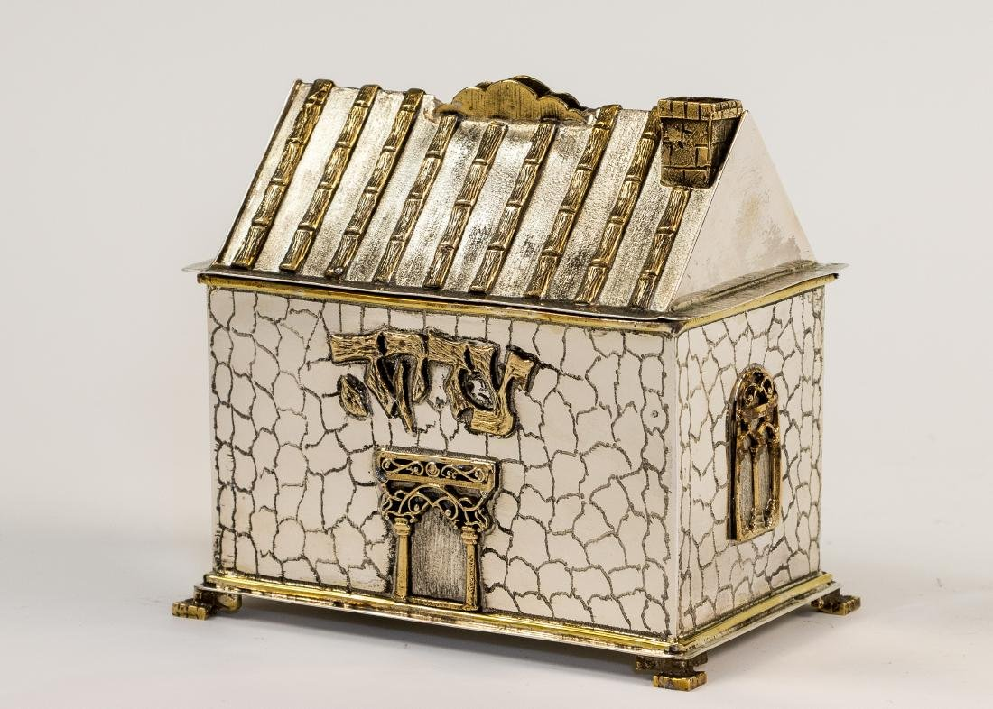 A STERLING SILVER CHARITY BOX. New York, modern. In the