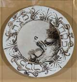 A HAND PAINTED PORCELAIN PASSOVER PLATE. Hungarian