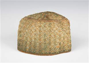 A WOMAN'S HEAD COVERING. Probably Poland, c. 1900.