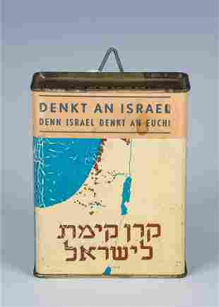 AN EARLY AND RARE JNF CHARITY BOX PalestineGermany