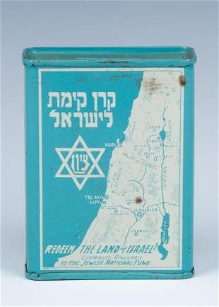A JNF CHARITY COLLECTION BOX United States c 1930