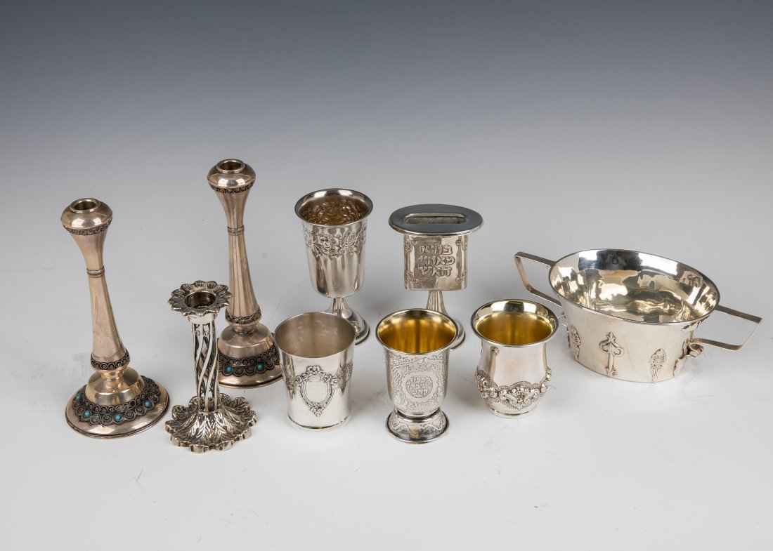 A GROUP OF SILVER JUDAICA AND TABLEWARE. Israel