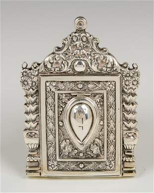 . A SILVER AMULET HOLDER. Probably Italy, 20th