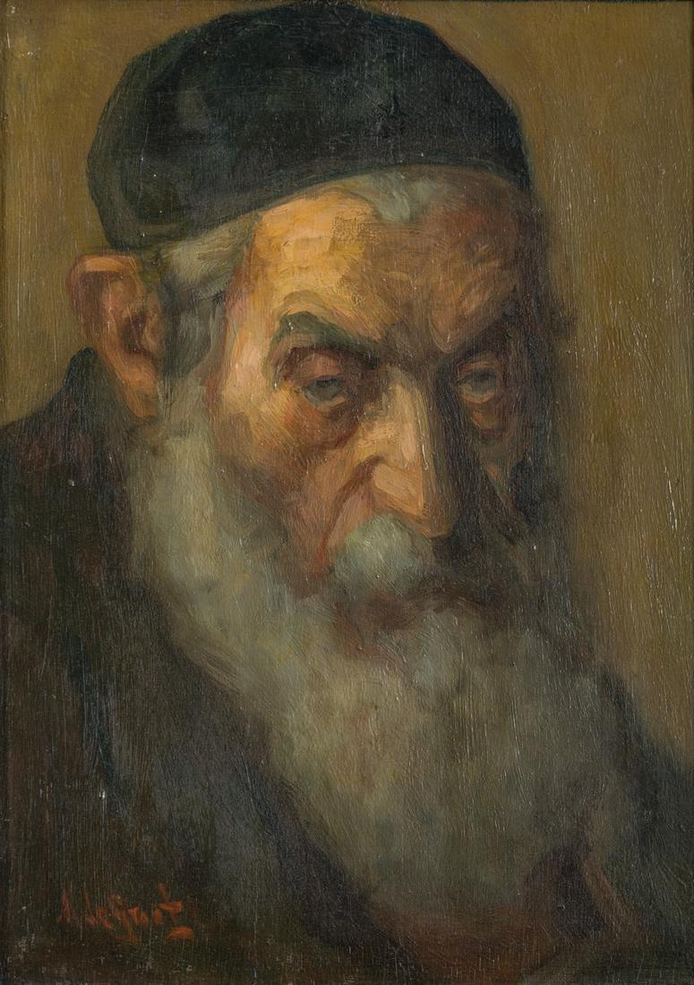 MAURICE DEGROOT.  Dutch, c. 1910. Jewish man. Oil on