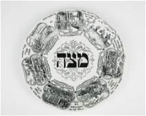 14. A PORCELAIN MATZAH PLATE BY TEPPER. London, c.