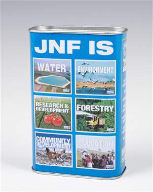 . A JNF CHARITY BOX.Canada, 20th century. The front