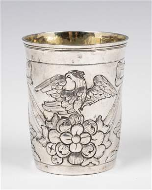 . A LARGE SILVER KIDDUSH CUP. Russia, 1781. Decorated