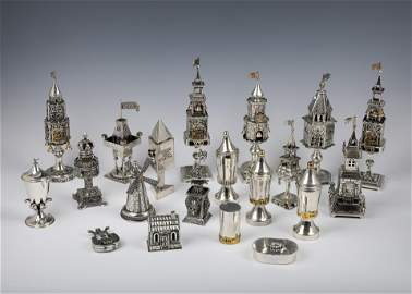 52. A GROUP OF 20 STERLING SILVER SPICE TOWERS. Israel,