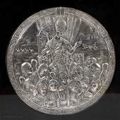 70. A STERLING SILVER PLAQUE BY HENRYK WINOGRAD. New