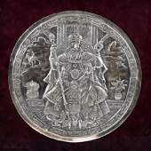 72. A STERLING SILVER PLAQUE BY HENRYK WINOGRAD. New