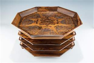 A RARE AND IMPORTANT OLIVEWOOD THREE TIER PASSOVER