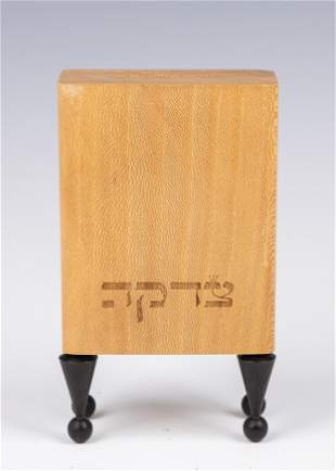 . A WOODEN CHARITY BOX. Probably Israel, modern. On