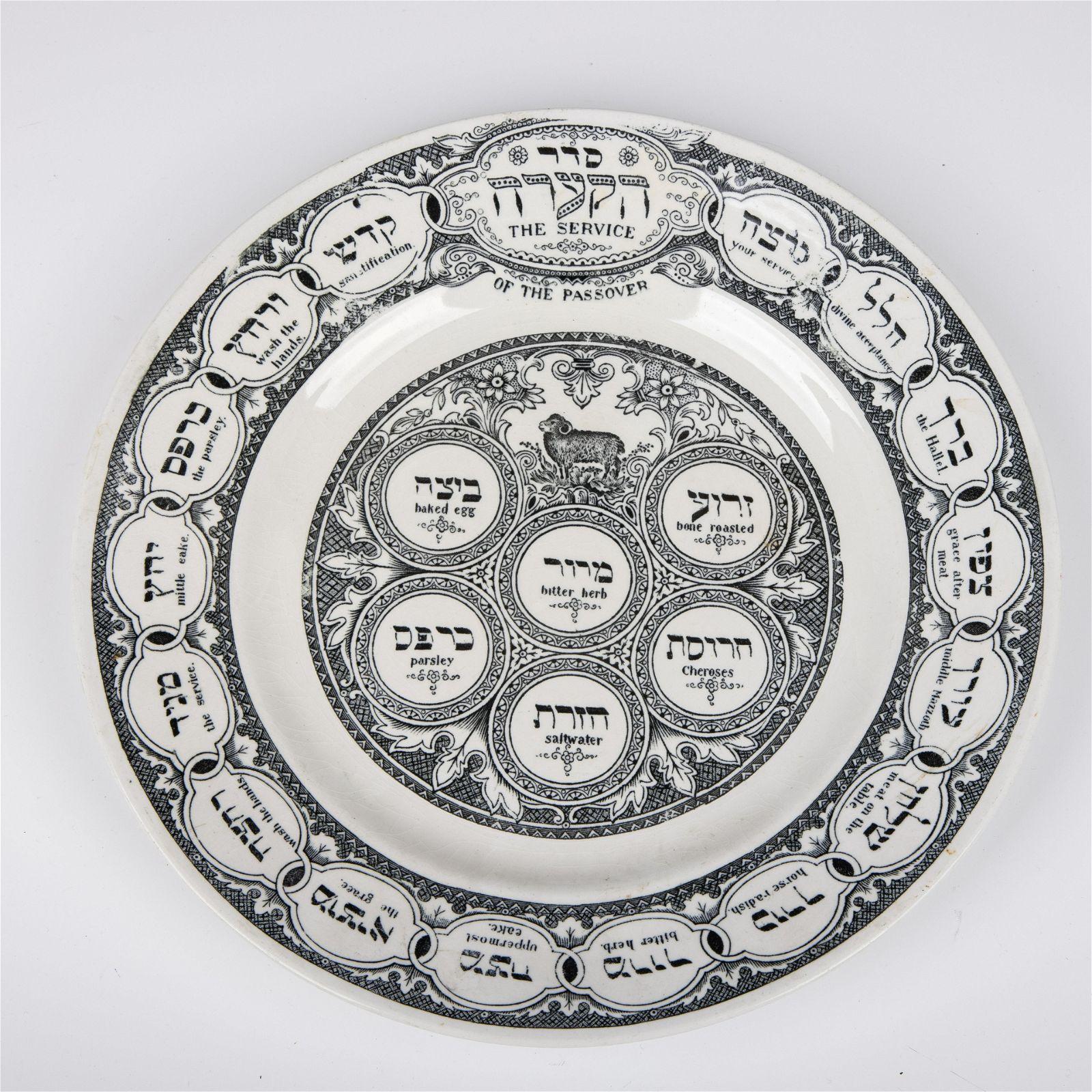 . A PORCELAIN MATZAH PLATE BY BARDINGER. London, c.