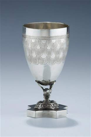 AN EARLY SILVER KIDDUSH CUP