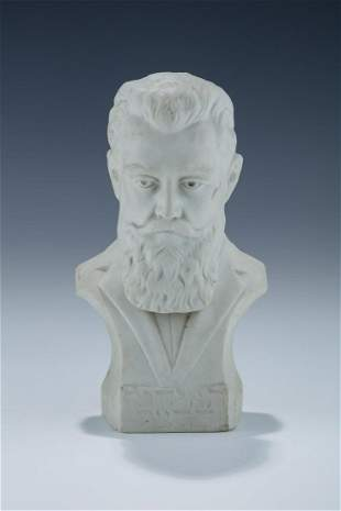 A BISQUE BUST OF THEODOR HERZL