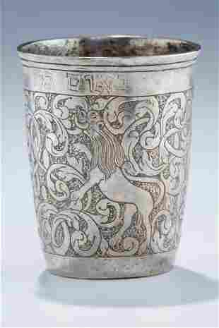 A VERY EARLY SILVER KIDDUSH CUP