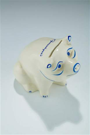A CERAMIC PIGGY BANK FROM THE GROSSINGER'S RESORT