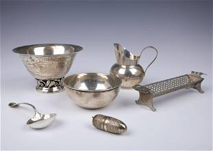 A GROUP OF FOUR STERLING SILVER TABLE ARTICLES