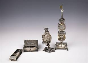 THREE STERLING SILVER JUDAICA OBJECTS